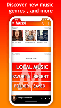 Mussi - music streaming APK screenshot 1