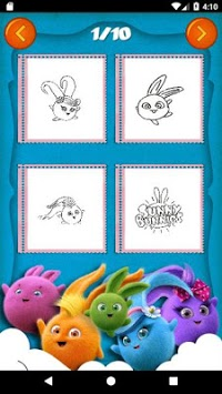 Sunny Bunnies Coloring Book - Kids Game APK screenshot 1