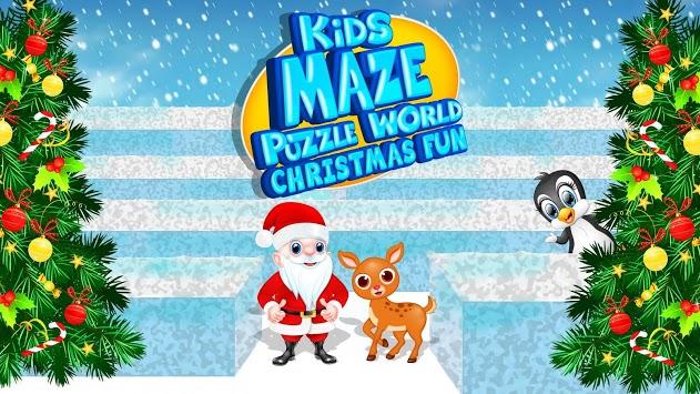 Kids Maze : Educational Puzzle Christmas Fun APK screenshot 1