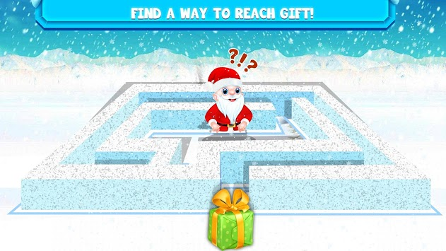 Kids Maze : Educational Puzzle Christmas Fun APK screenshot 1