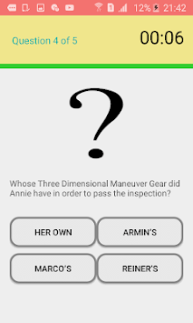 Attack on Titan quiz APK screenshot 1