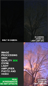 Low Light Vision Video Camera 35x zoom APK screenshot 1