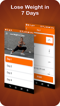Lose weight in 7 days: Happy fitness plan APK screenshot 1