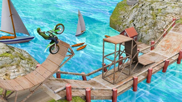 Stunt Bike Racing Game Trial Tricks Master APK screenshot 1