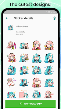 VOCALOID MIKU Stickers for WhatsApp APK screenshot 1