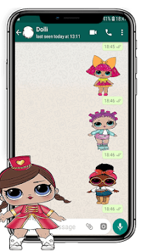 Lol Dolls Stickers (WAStickersApps) APK screenshot 1
