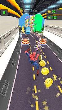 Subway Spider World APK screenshot 1