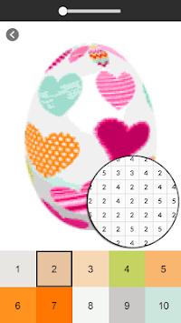 Easter Egg Coloring Game - Color By Number APK screenshot 1