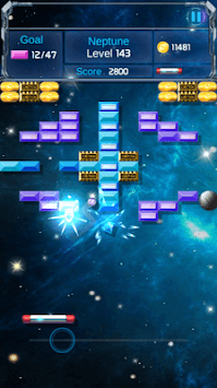 Brick Breaker Space Outlaw APK screenshot 1
