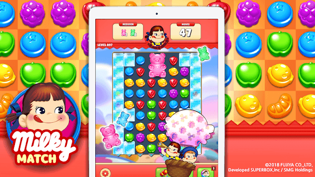 Milky Match : Peko Puzzle Game APK screenshot 1