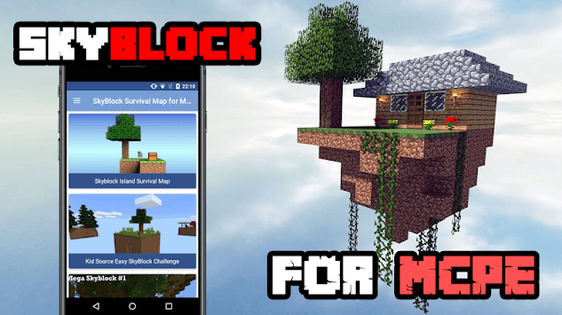 SkyBlocks Maps for MCPE APK screenshot 1