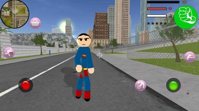 Stickman Superboy  Rope Hero Crime City APK screenshot 1