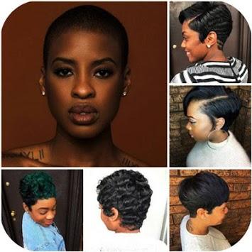 Black Women Short Haircut APK screenshot 1