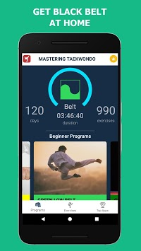 Mastering Taekwondo - Get Black Belt at Home APK screenshot 1
