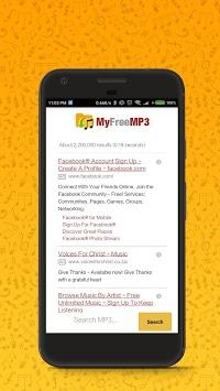 MyFreeMP3 - Search and Download Free MP3 APK screenshot 1