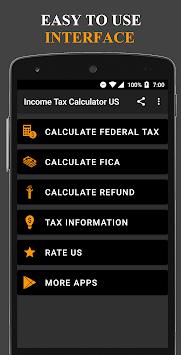 Income Tax Calculator USA APK screenshot 1
