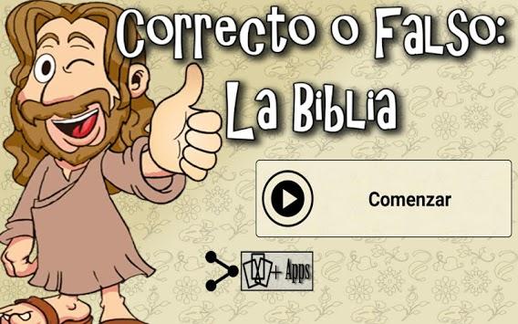 Correcto o Falso: La Biblia APK screenshot 1