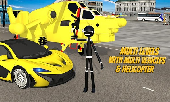 Stickman Street Fighter:Miami City Crime Simulator APK screenshot 1