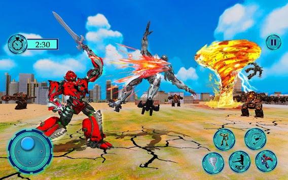 Immortal Superhero Tornado Robot City Rescue 2019 APK screenshot 1