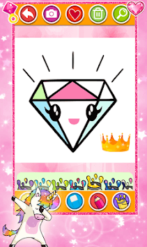 Diamond Coloring & Drawing for kids APK screenshot 1