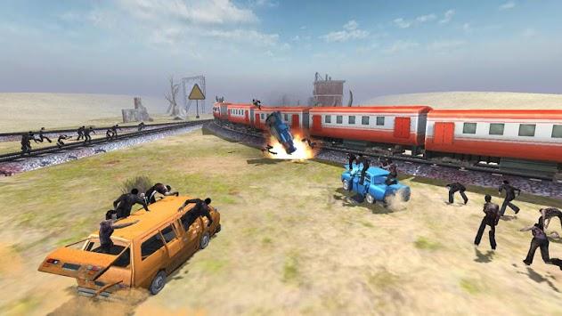Train shooting - Zombie War APK screenshot 1
