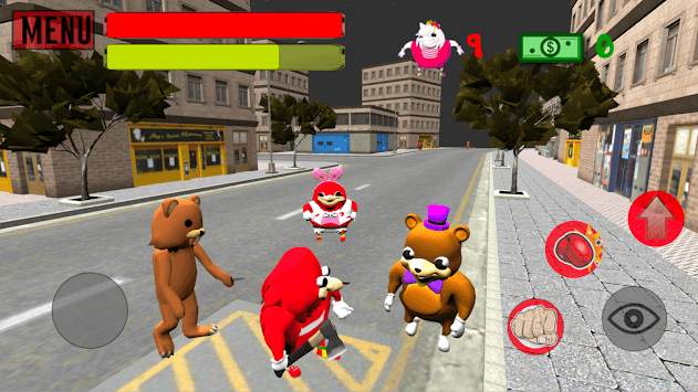 Ugandan Simulator. Knuckles Survival APK screenshot 1