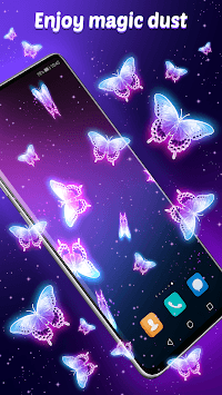 Live Wallpaper Magic Touch Butterfly APK screenshot 1