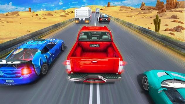 Crazy  Extreme Traffic racing 2019 APK screenshot 1