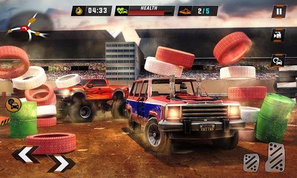 Monster Truck Car Crash Demolition Derby Games APK screenshot 1