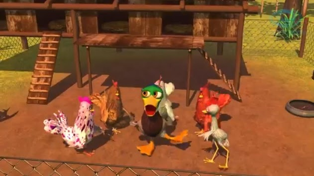 Video for children The rooster and the leg APK screenshot 1