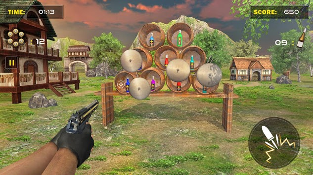 Real Bottle Target Shooting Game 2019 APK screenshot 1
