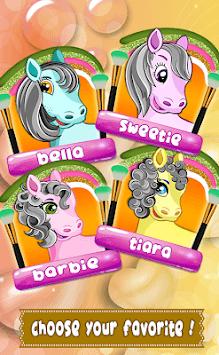 Sweet Pony Salon Game for kids APK screenshot 1