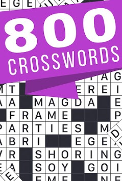 Crosswords - 800 easy and hard crossword puzzles APK screenshot 1