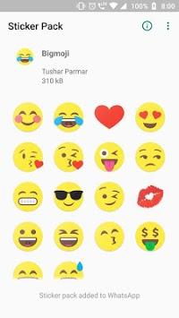 Bigmoji - Stickers for WhatsApp APK screenshot 1