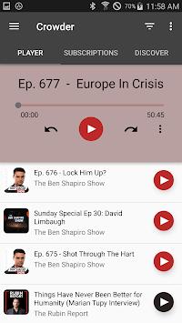 Crowder Podcast APK screenshot 1