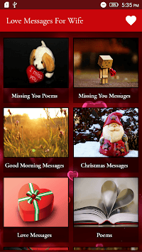 Love Messages For Wife - Romantic Poems & Images APK screenshot 1