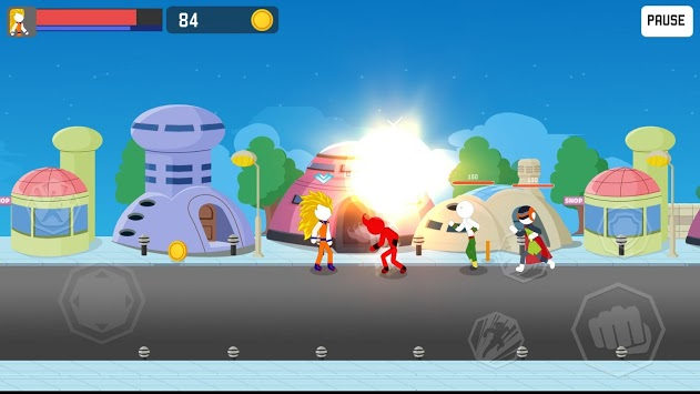 Stick Rage: Street Fight APK screenshot 1