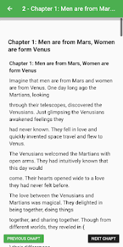 Men are from Mars, Women are from Venus By John G. APK screenshot 1