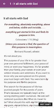 The Purpose-Driven Life By Rick Warren APK screenshot 1