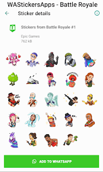 WAStickersApps - Battle Royale Stickers APK screenshot 1