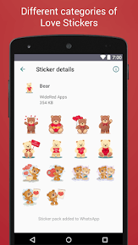 Love Stickers for Whatsapp - WAStickerApps APK screenshot 1