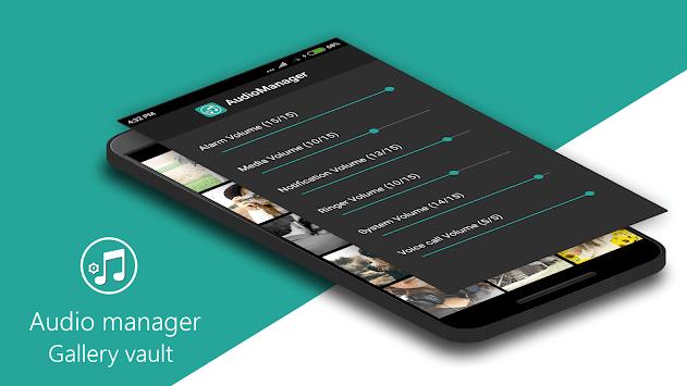 Audio Manager Gallery Vault: Hide photos-videos APK screenshot 1