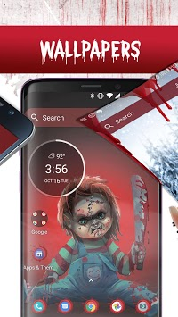 Scary Doll Themed Launcher - Icons and Themes Pack APK screenshot 1