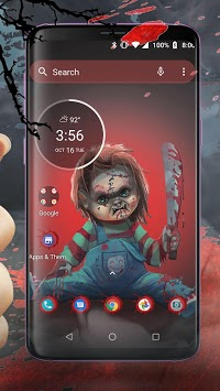 Scary Doll Halloween Theme - Wallpapers and Icons APK screenshot 1