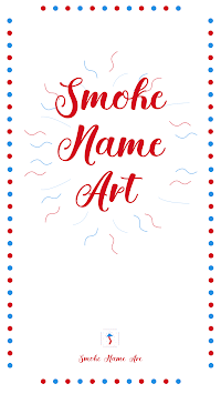 Smoke Name Art APK screenshot 1