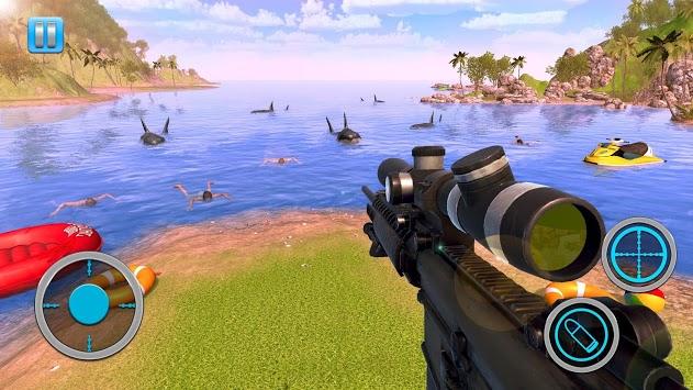 Whale Shark Attack FPS Sniper Shooter APK screenshot 1
