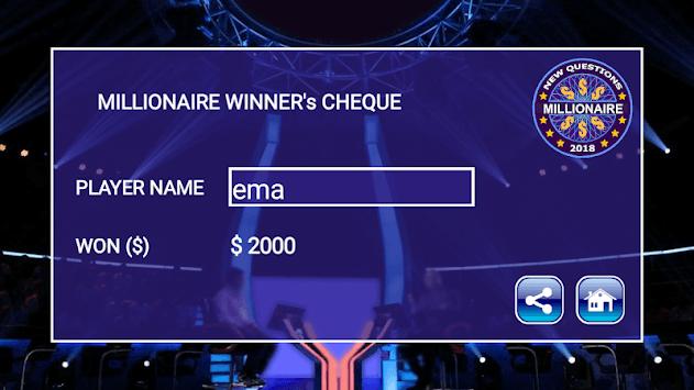 New Millionaire 2019 - Quiz Game APK screenshot 1