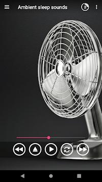 Ambient sleep sounds fan APK screenshot 1