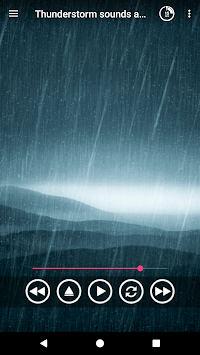 Thunderstorm sounds and rain sound for sleep APK screenshot 1