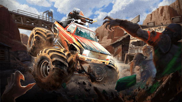 Wilderness Car Hitting Zombies APK screenshot 1